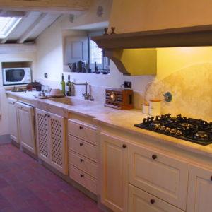 Piano cucina e acquario