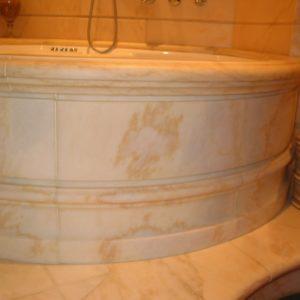 asca tonda idromassaggio stile classico in marmo rosa Portogallo